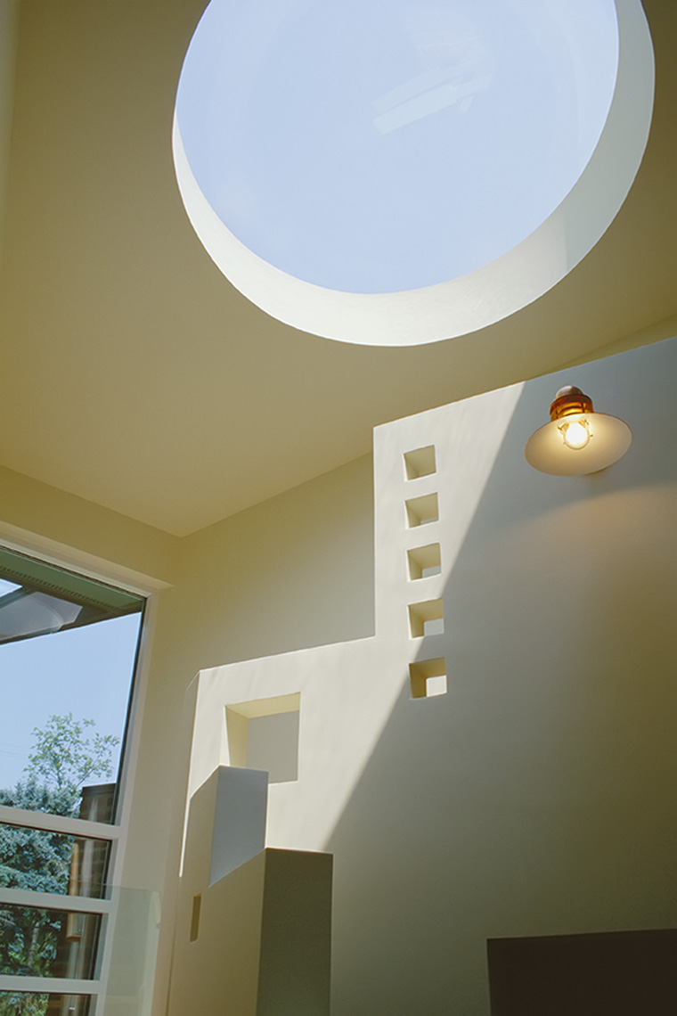 architectural detail of skylight wall lamp