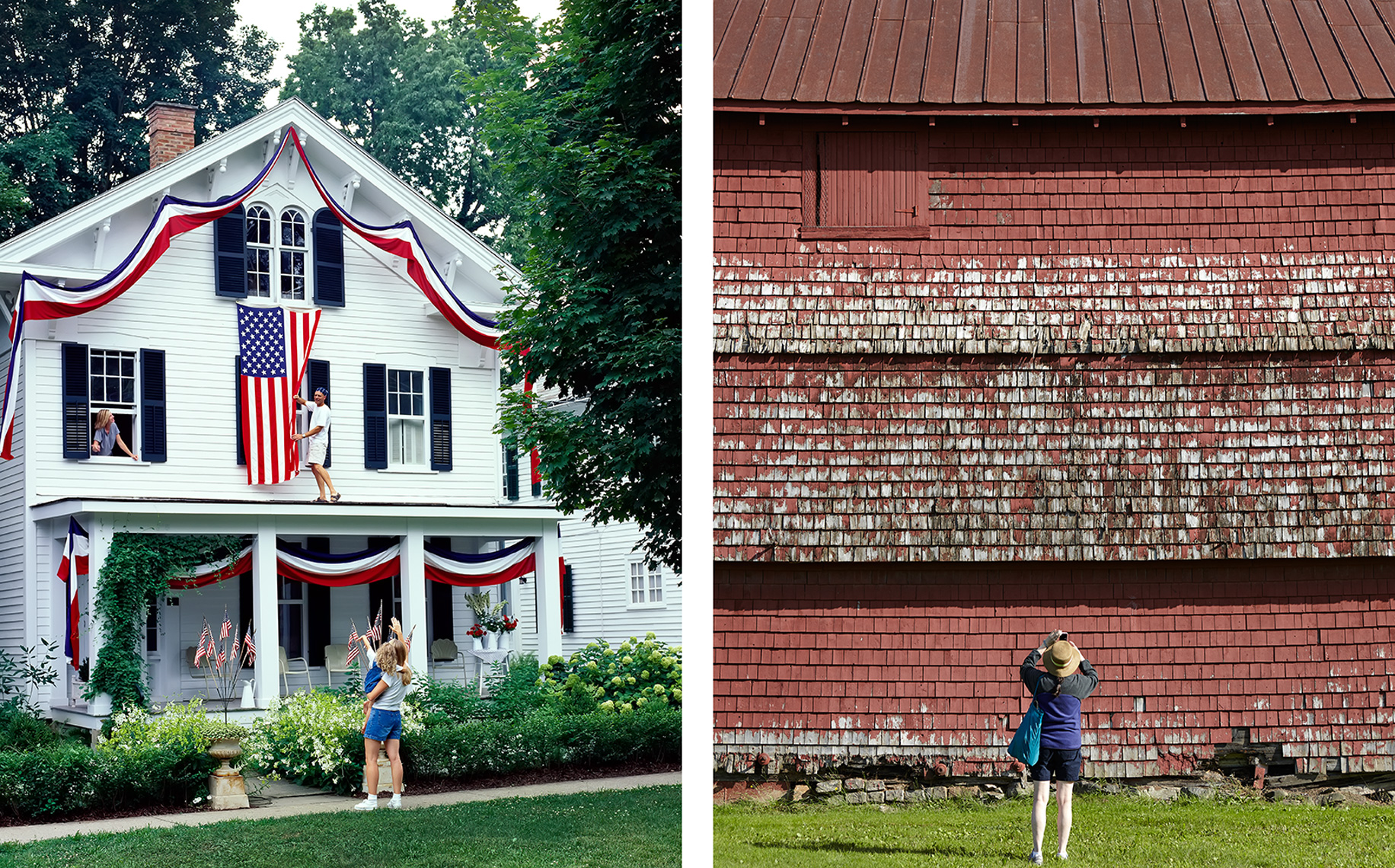 4th of july and photographing old barn